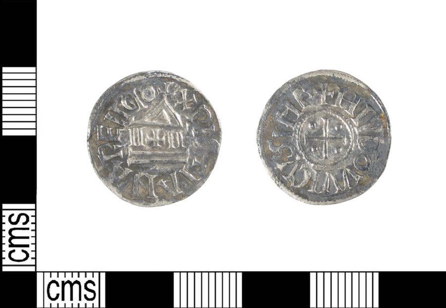 A Carolingian silver denier found near East Lindsey, Lincolnshire. (c) Portable Antiquities Scheme, CC BY-SA 2.0