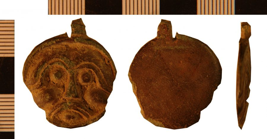 A cast anthropomorphic copper-alloy disc pendant found near Belton, Lincolnshire. (c) Portable Antiquities Scheme, CC BY-SA 4.0