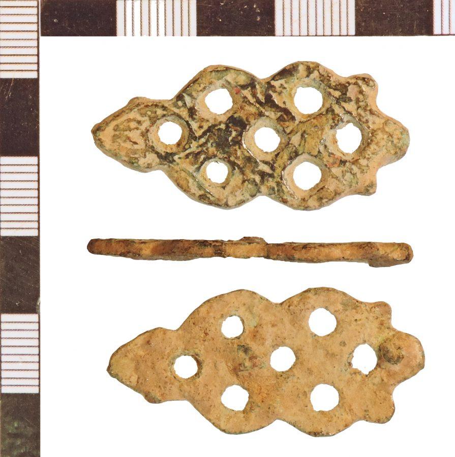 A copper-alloy mount found near Stokeham, Nottinghamshire. (c) Portable Antiquities Scheme, CC BY-SA 2.0