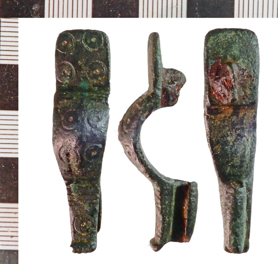 A Frankish copper-alloy ansate brooch found near Roxby cum Risby, Lincolnshire. (c) Leicestershire County Council, CC BY-SA 2.0