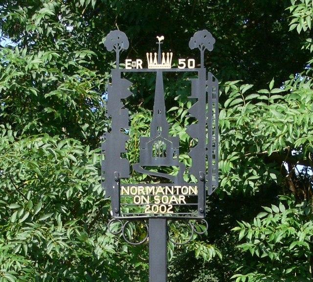 Normanton on Soar sign