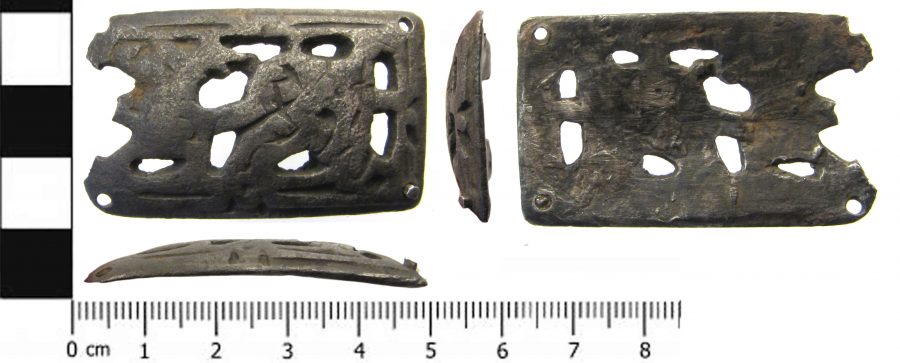 An silver Anglo-Scandinavian mount found near Misson, Nottinghamshire. (c) Portable Antiquities Scheme, CC BY-SA 4.0