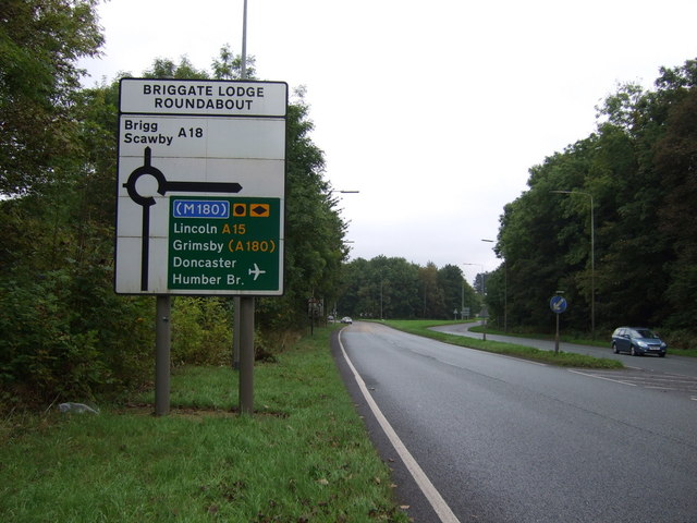 road sign with Scawby