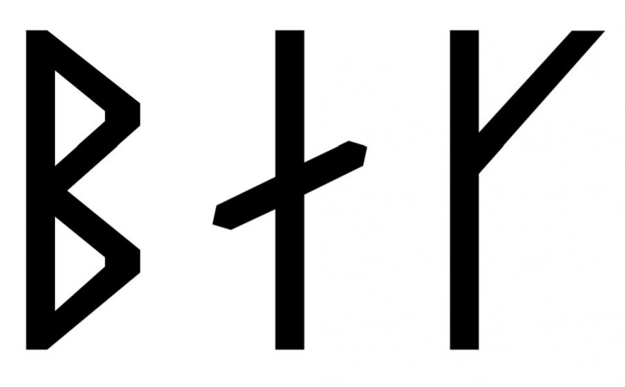 Bak written in Viking Age runes (Group A)