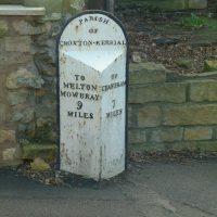 Croxton Kerrial milemarker