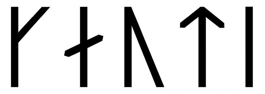 Gauti written in Viking Age runes (Group A)