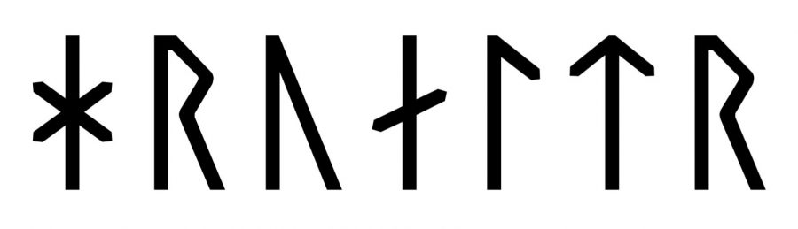 Hroald written in Viking Age runes (Group A)