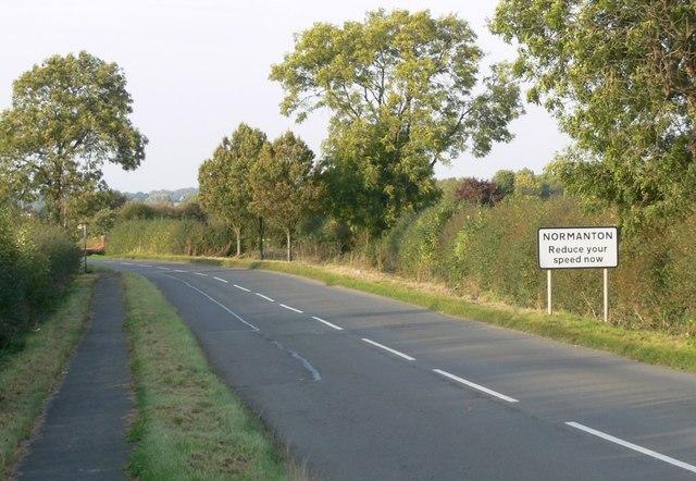 Normanton Leics sign