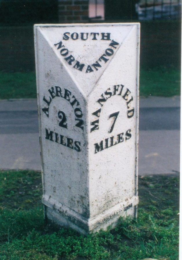 South Normanton mile marker