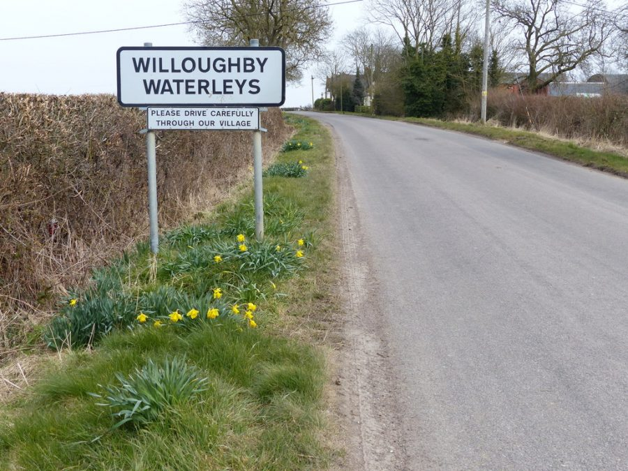 willoughby Waterleys sign