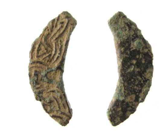 Copper-Alloy Buckle Fragment in the Borre style found near Coddington, Nottinghamshire